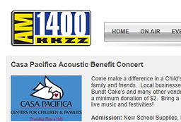 Casa Pacific Acoustic Benefit
