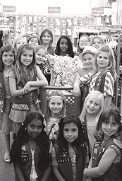 Girl Scouts go shopping for Casa Pacifica