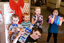 Local families and community donate for a good cause