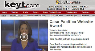 KEYT Channel 3 Newscast Casa Pacifica Website Award