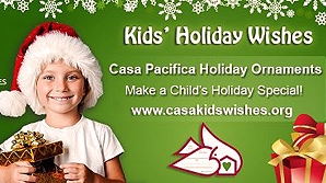 Casa Pacifica Holiday Kids' Wishes Ornaments Available