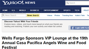 Wells Fargo Sponsors VIP Lounge at the 19th Annual Casa Pacifica Angels Wine and Food Festival