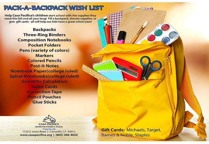 Pack-A-Backpack Wish List