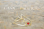 Beautiful Casa Pacifica logo in entrance.