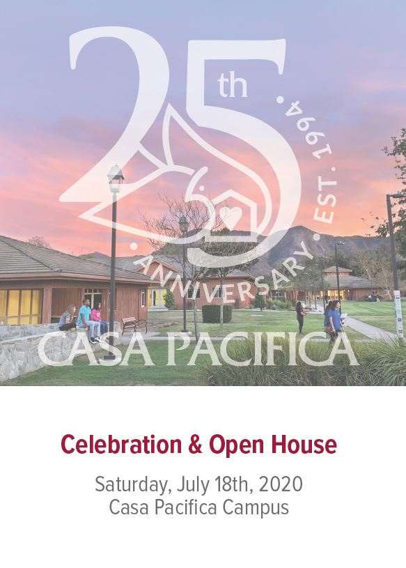 YOU'RE INVITED! 25th Open House & Celebration Invite. Date: July 18, 2020. Location: 1722 S Lewis Rd Camarillo