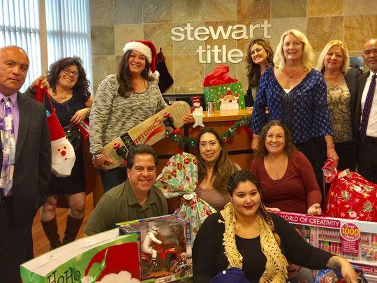 Stewart Title brings cheer to children