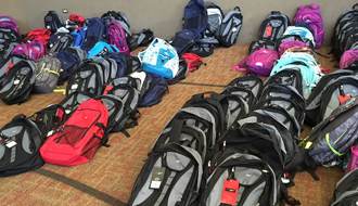 Foster kids receive back-to-school boost