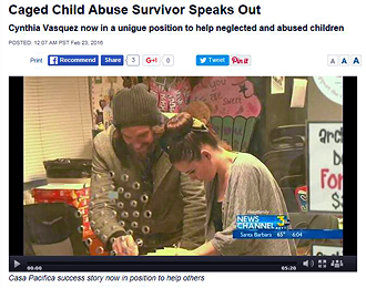 Caged Child Abuse Survivor Speaks Out