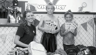 Gym gathers goodies for kids in need